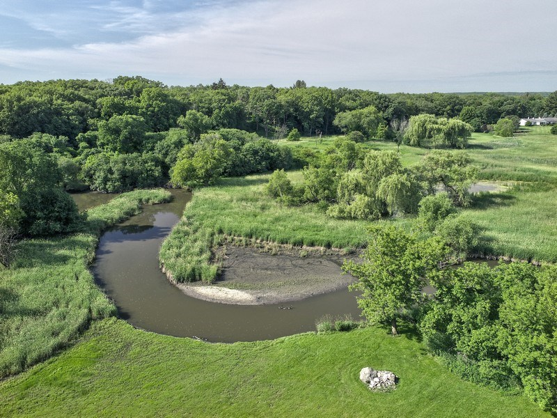 Real Estate Photography - 559 Oak Knoll Rd, Barrington Hills, IL, 60010 - Flint Creek - Aerial