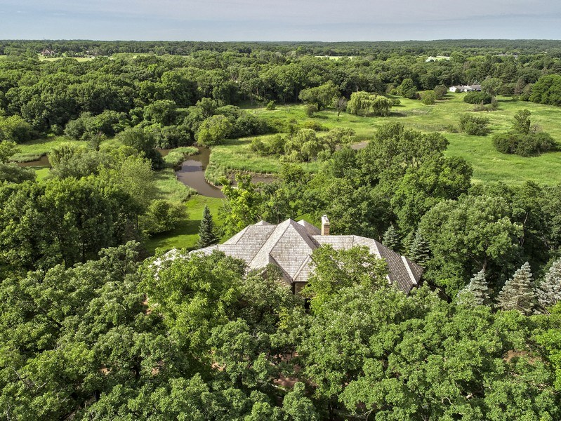 Real Estate Photography - 559 Oak Knoll Rd, Barrington Hills, IL, 60010 - Aerial View