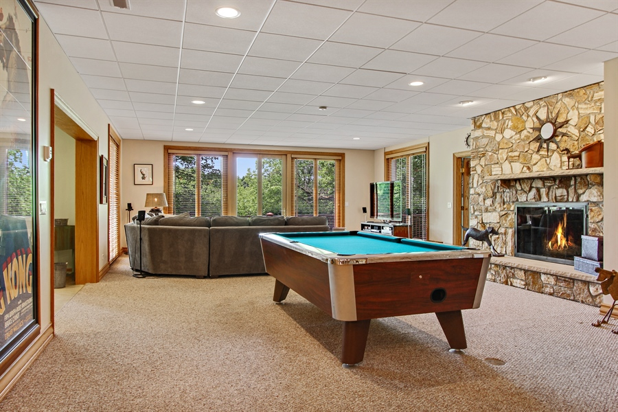 Real Estate Photography - 559 Oak Knoll Rd, Barrington Hills, IL, 60010 - Recreational Room