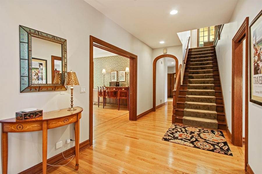 Real Estate Photography - 559 Oak Knoll Rd, Barrington Hills, IL, 60010 - Hall and Back Staircase (elevator adjacent)