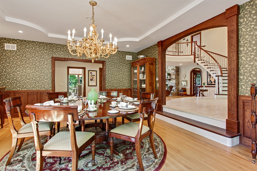 Real Estate Photography - 559 Oak Knoll Rd, Barrington Hills, IL, 60010 - Dining Room