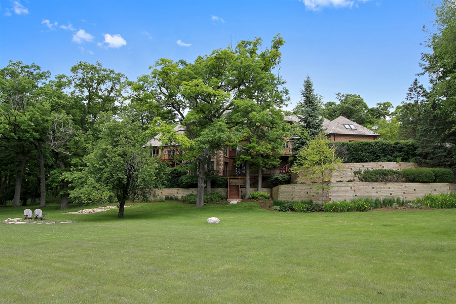 Real Estate Photography - 559 Oak Knoll Rd, Barrington Hills, IL, 60010 - Rear View