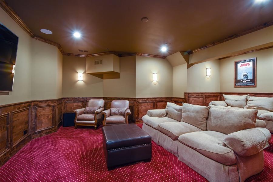 Real Estate Photography - 24215 N Coneflower Drive, Lake Barrington, IL, 60010 - Media Room