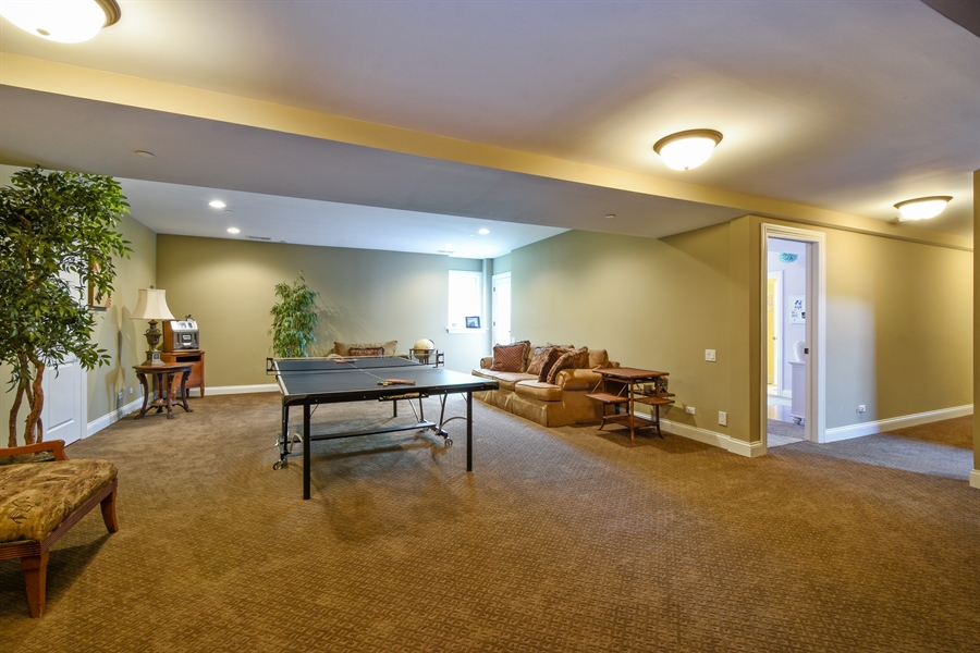 Real Estate Photography - 24215 N Coneflower Drive, Lake Barrington, IL, 60010 - Rec Room - Walk-Out Lower Level
