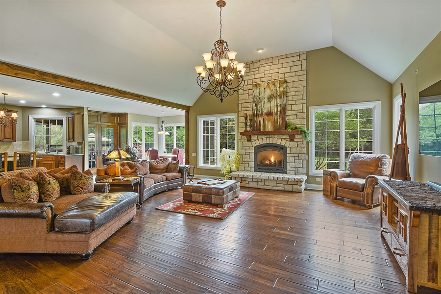 Real Estate Photography - 24215 N Coneflower Drive, Lake Barrington, IL, 60010 - Family Room