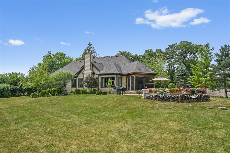 Real Estate Photography - 24215 N Coneflower Drive, Lake Barrington, IL, 60010 - Rear View