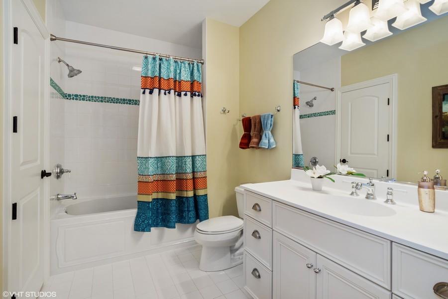 Real Estate Photography - 24215 N Coneflower Drive, Lake Barrington, IL, 60010 - Lower Level Full Bath