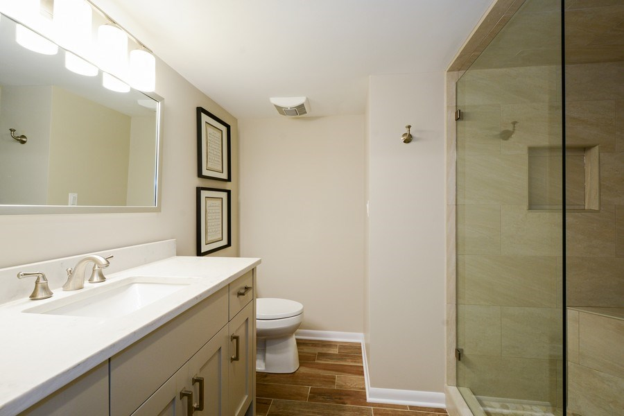 Real Estate Photography - 124 South Hills, Tower Lakes, IL, 60010 - Full Bath, Lower Level