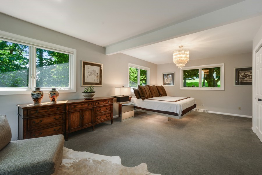 Real Estate Photography - 124 South Hills, Tower Lakes, IL, 60010 - Master Bedroom