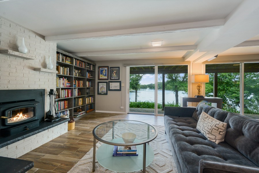 Real Estate Photography - 124 South Hills, Tower Lakes, IL, 60010 - Rec Room - Walk-Out Lower Level