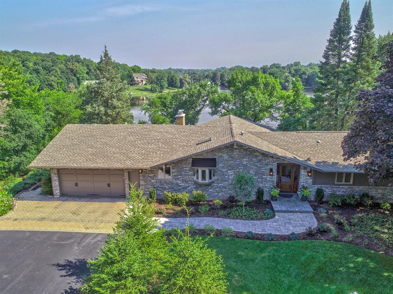 Real Estate Photography - 124 South Hills, Tower Lakes, IL, 60010 - Aerial View