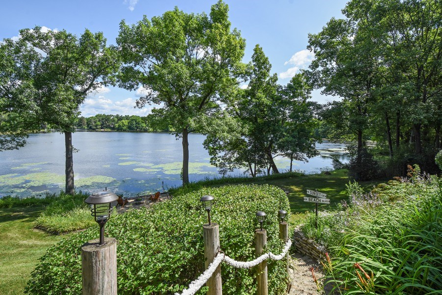 Real Estate Photography - 124 South Hills, Tower Lakes, IL, 60010 - Path to Lake