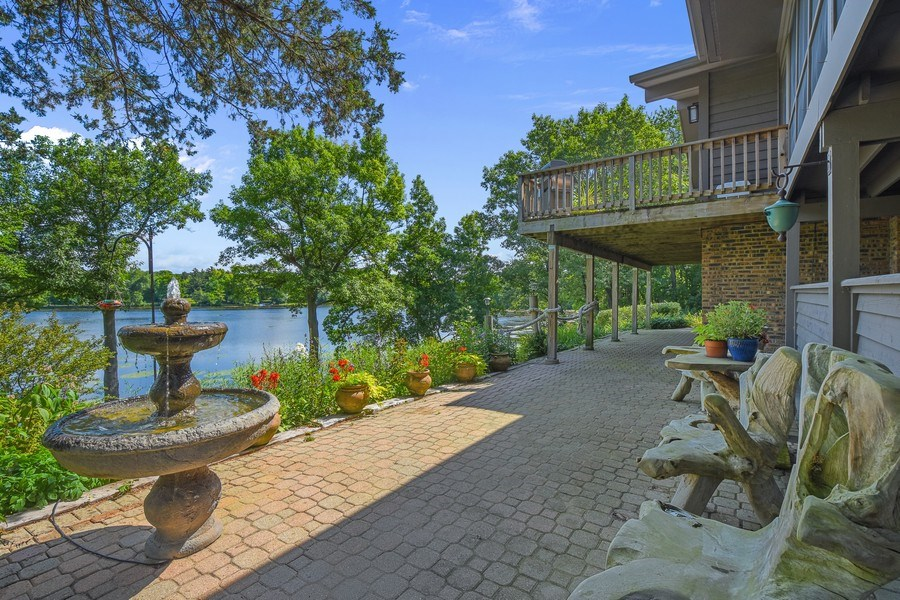 Real Estate Photography - 124 South Hills, Tower Lakes, IL, 60010 - Patio