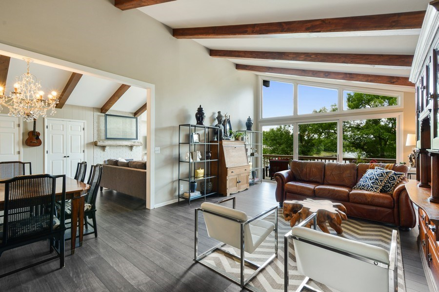 Real Estate Photography - 124 South Hills, Tower Lakes, IL, 60010 - Living/Family/Dining Area View