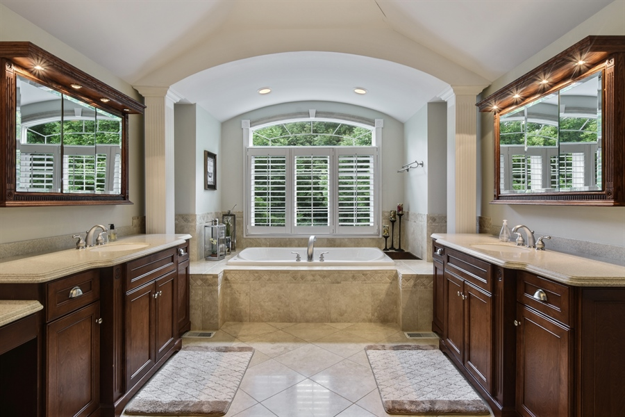 Real Estate Photography - 50 Whitetail Lane, Barrington, IL, 60010 - Master Bathroom