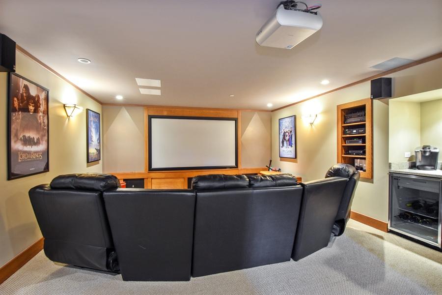 Real Estate Photography - 50 Whitetail Lane, Barrington, IL, 60010 - Media Room