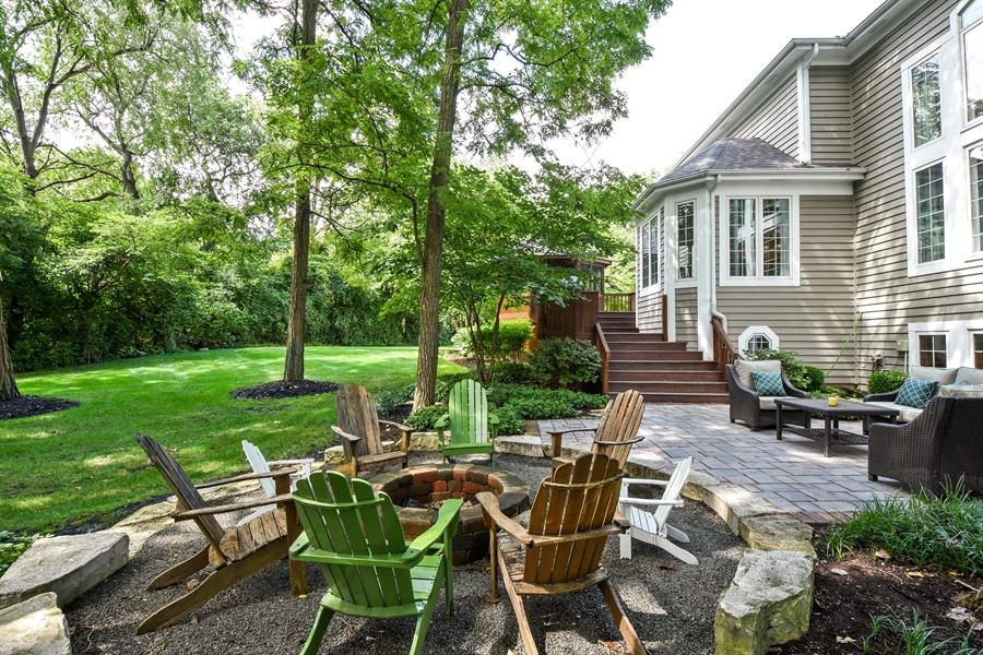 Real Estate Photography - 50 Whitetail Lane, Barrington, IL, 60010 - Fire Pit & Patio