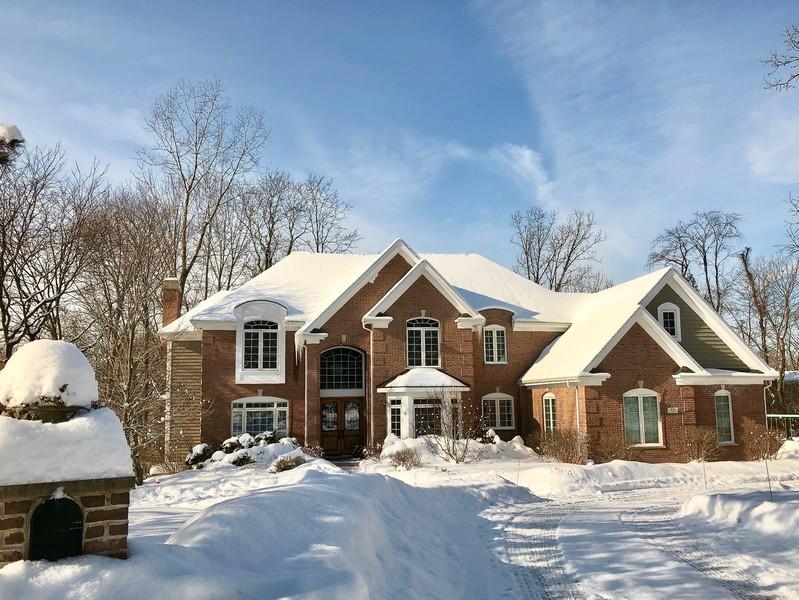 Real Estate Photography - 50 Whitetail Lane, Barrington, IL, 60010 - Winter View
