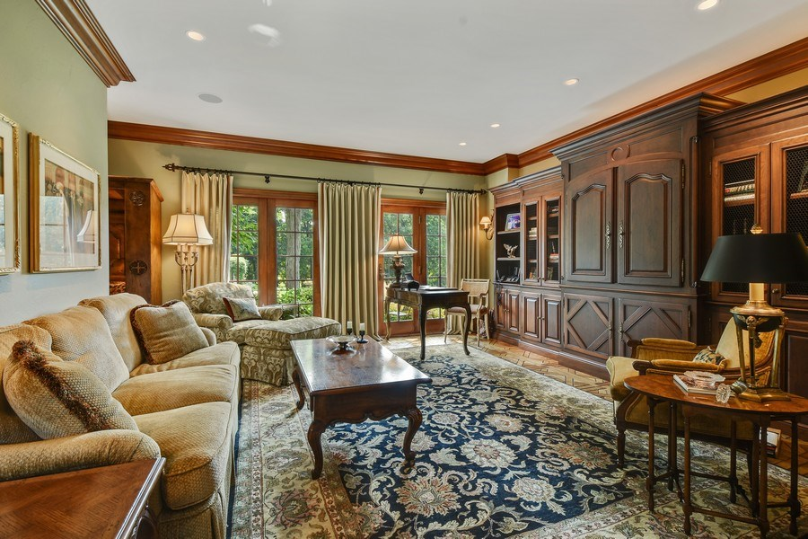 Real Estate Photography - 87 Hawley Woods Rd, Barrington Hills, IL, 60010 - Living Room