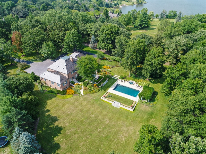 Real Estate Photography - 87 Hawley Woods Rd, Barrington Hills, IL, 60010 - Aerial View