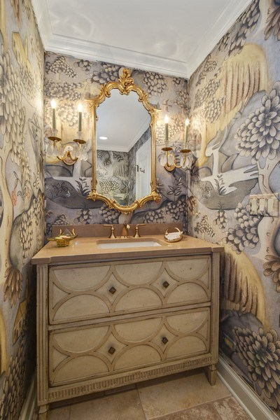 Real Estate Photography - 87 Hawley Woods Rd, Barrington Hills, IL, 60010 - Powder Room