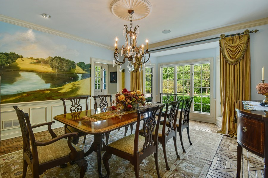 Real Estate Photography - 87 Hawley Woods Rd, Barrington Hills, IL, 60010 - Dining Room
