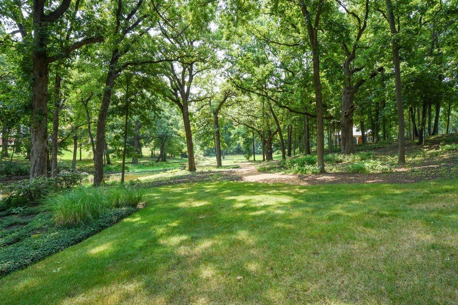 Real Estate Photography - 87 Hawley Woods Rd, Barrington Hills, IL, 60010 - Wooded Walking Path