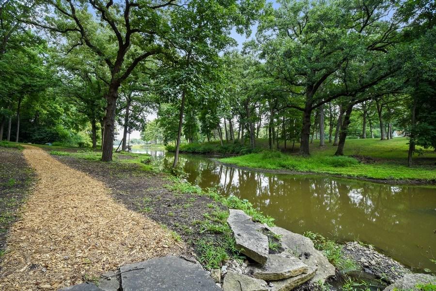 Real Estate Photography - 87 Hawley Woods Rd, Barrington Hills, IL, 60010 - Walking Path along stream