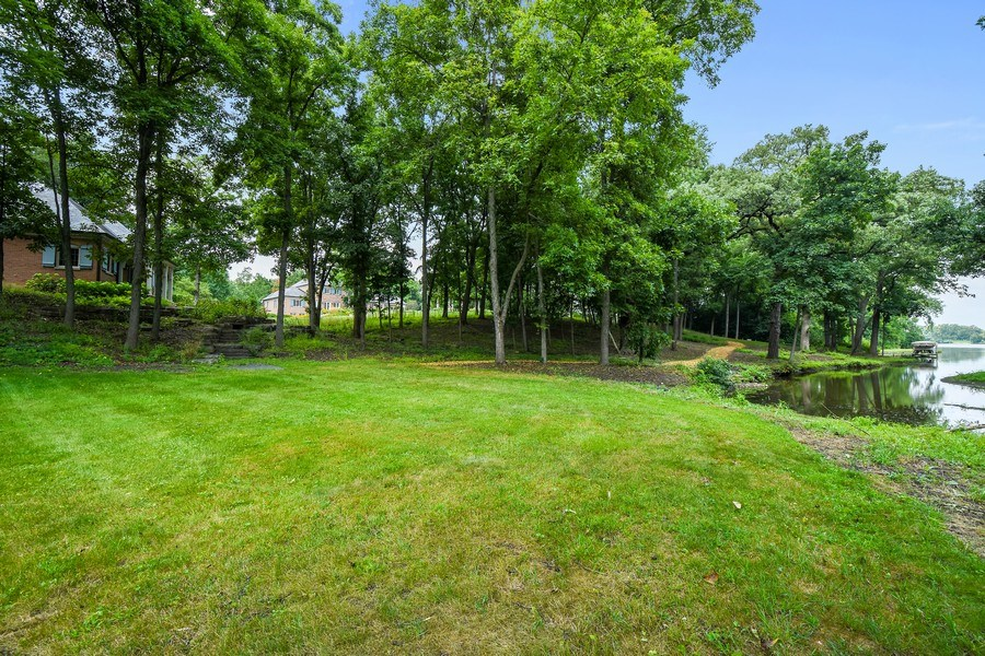 Real Estate Photography - 87 Hawley Woods Rd, Barrington Hills, IL, 60010 - Far backyard view