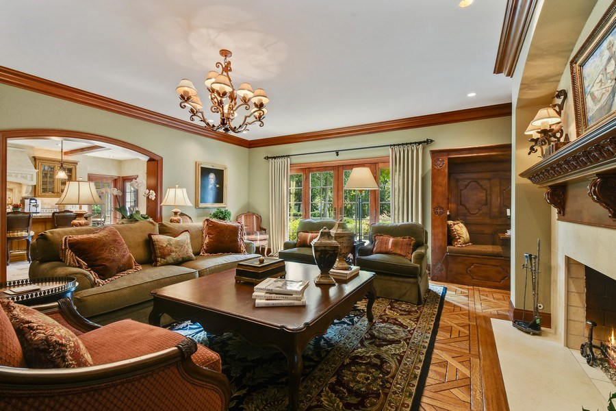 Real Estate Photography - 87 Hawley Woods Rd, Barrington Hills, IL, 60010 - Family Room