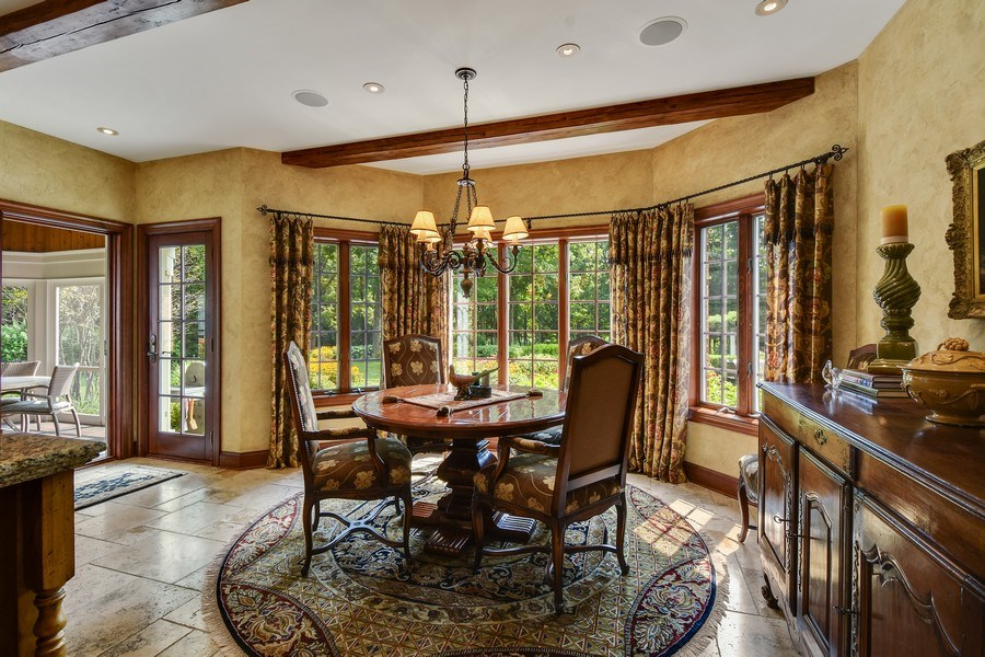Real Estate Photography - 87 Hawley Woods Rd, Barrington Hills, IL, 60010 - Breakfast Area
