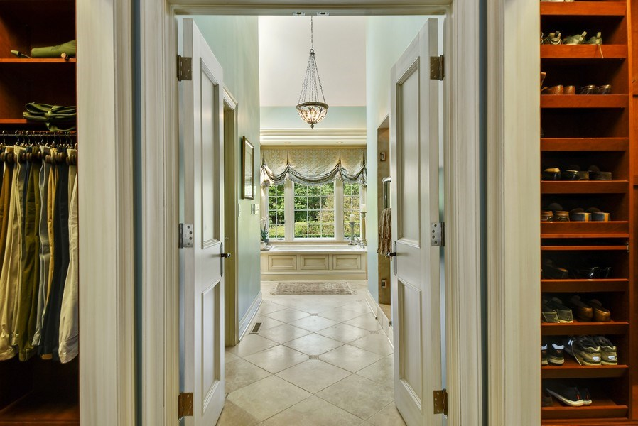 Real Estate Photography - 87 Hawley Woods Rd, Barrington Hills, IL, 60010 - Master Bedroom Closet