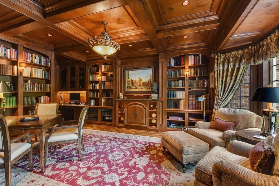 Real Estate Photography - 87 Hawley Woods Rd, Barrington Hills, IL, 60010 - Library