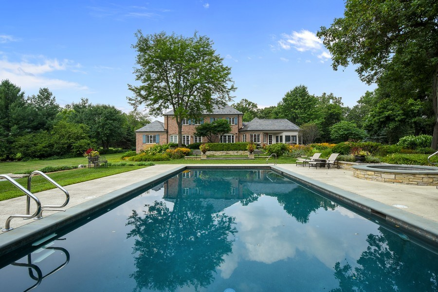 Real Estate Photography - 87 Hawley Woods Rd, Barrington Hills, IL, 60010 - Rear View