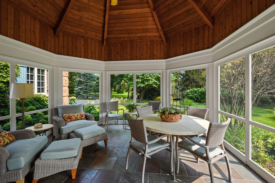 Real Estate Photography - 87 Hawley Woods Rd, Barrington Hills, IL, 60010 - Screen Porch