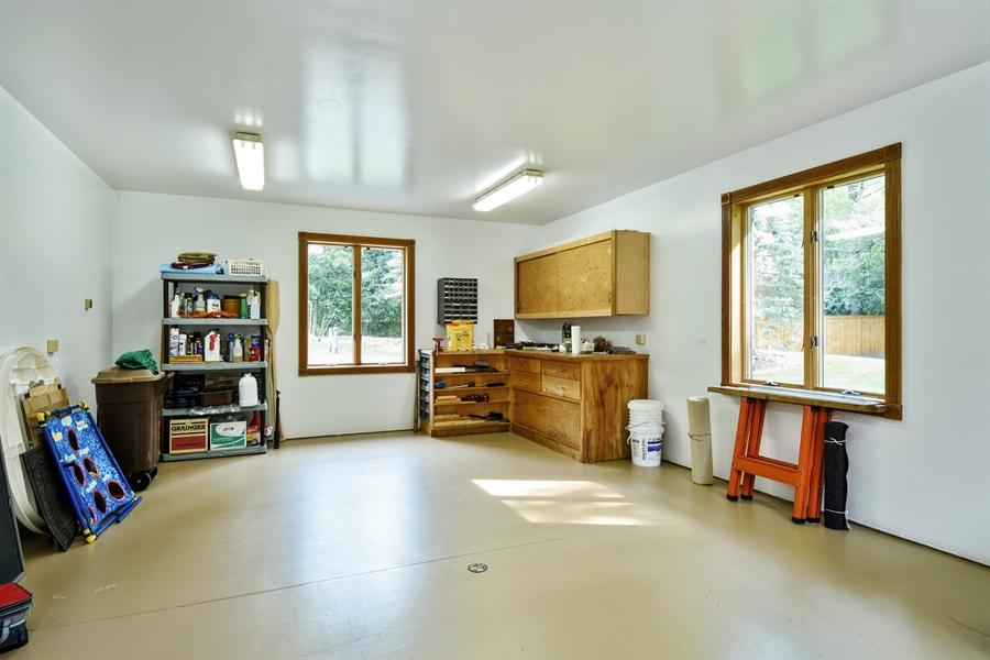 Real Estate Photography - 120 Dunrovin Dr, Barrington Hills, IL, 60010 - Workshop off Garage