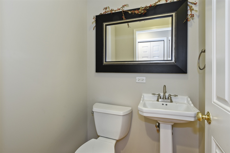 Real Estate Photography - 819 Meadow Lane, Barrington, IL, 60010 - Powder Room