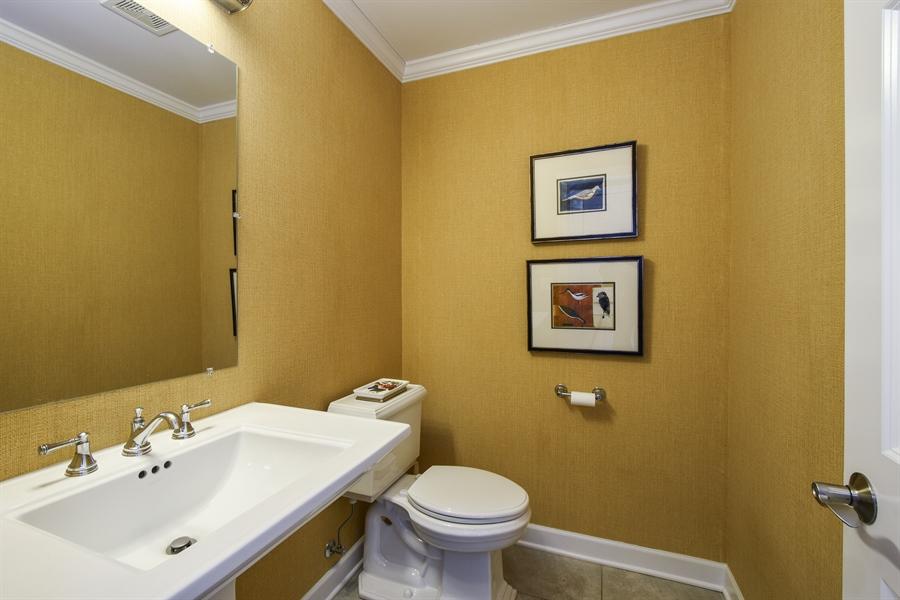Real Estate Photography - 510 Shady Lane, Barrington, IL, 60010 - Powder Room