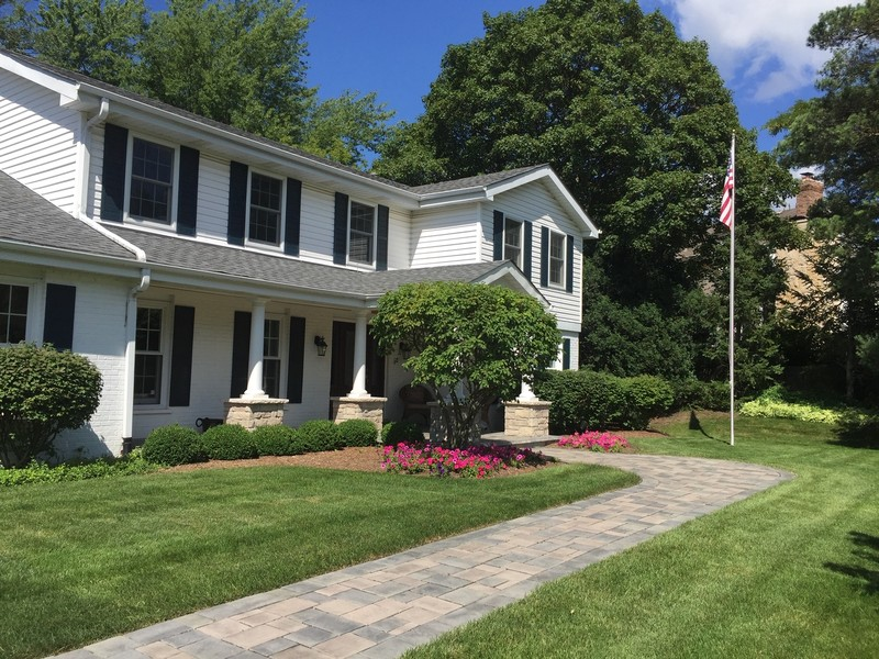 Real Estate Photography - 510 Shady Lane, Barrington, IL, 60010 - Front Walkway & Landscaping