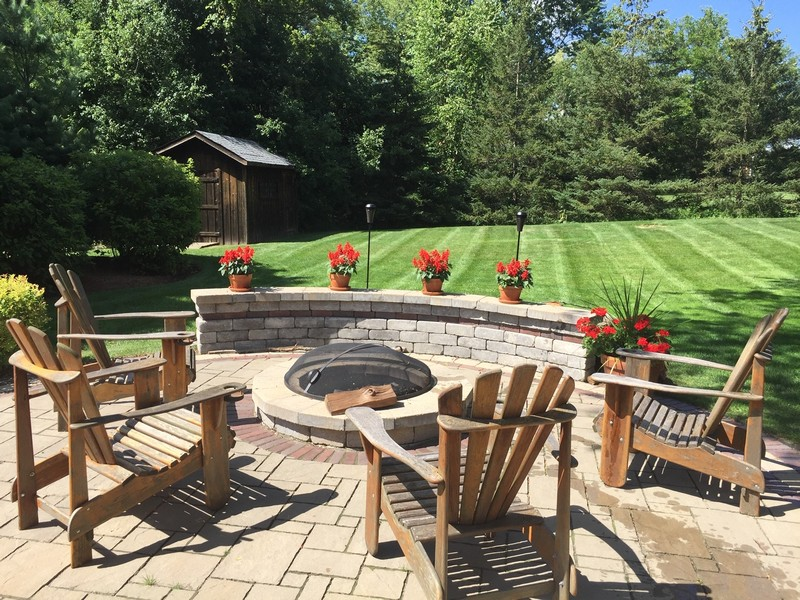 Real Estate Photography - 510 Shady Lane, Barrington, IL, 60010 - Patio & Fire Pit