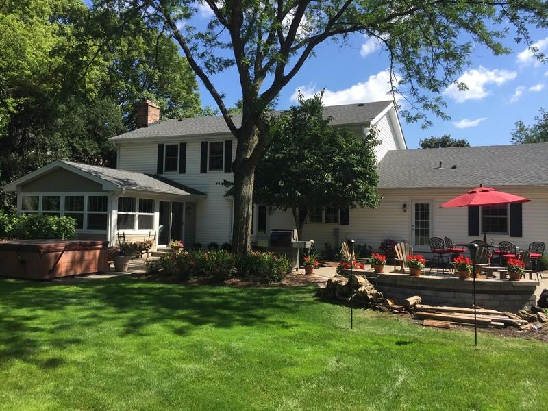 Real Estate Photography - 510 Shady Lane, Barrington, IL, 60010 - Rear View