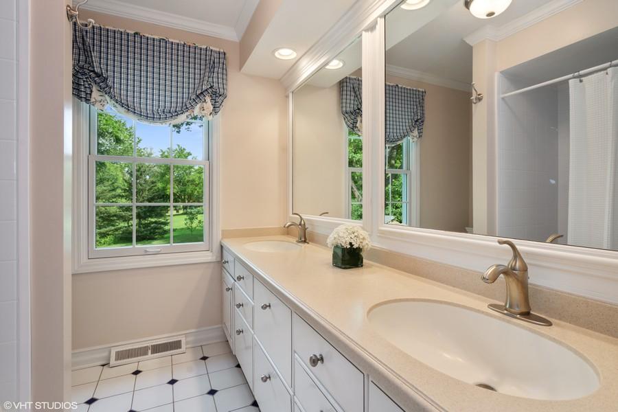 Real Estate Photography - 510 Shady Lane, Barrington, IL, 60010 - 2nd Level Hall Bath