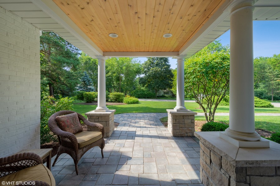 Real Estate Photography - 510 Shady Lane, Barrington, IL, 60010 - Front Patio