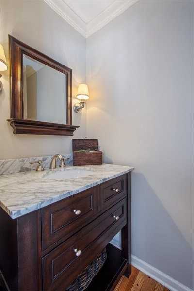 Real Estate Photography - 425 W. Sunset Rd., Barrington, IL, 60010 - Powder Room