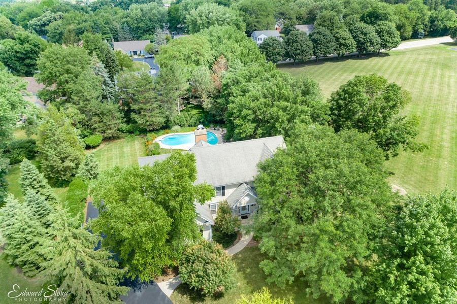 Real Estate Photography - 440 Tower Road, Barrington, IL, 60010 - Aerial View of Property