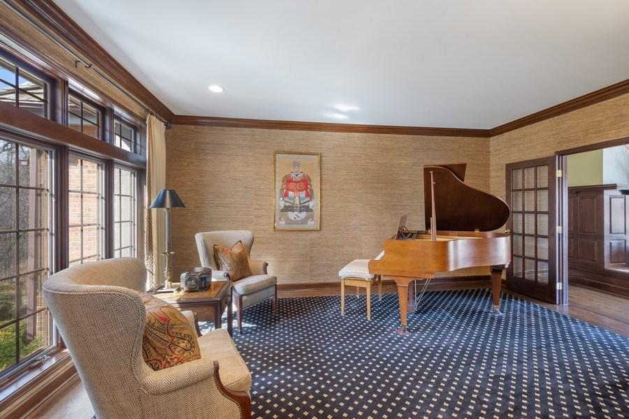 Real Estate Photography - 246 Oak Knoll Rd., Barrington HIlls, IL, 60010 - Living Room