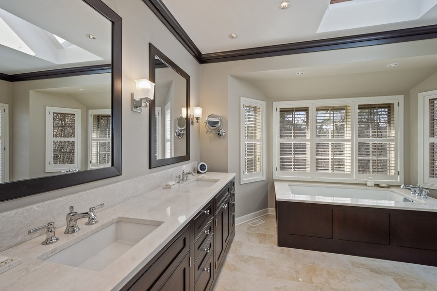 Real Estate Photography - 246 Oak Knoll Rd., Barrington HIlls, IL, 60010 - Master Bathroom