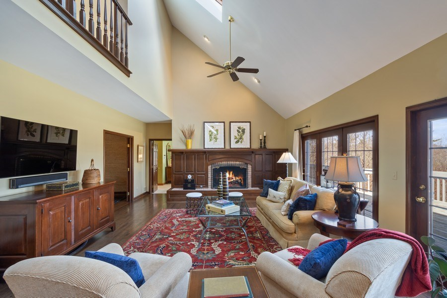 Real Estate Photography - 246 Oak Knoll Rd., Barrington HIlls, IL, 60010 - Family Room