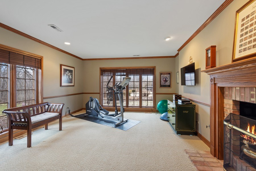 Real Estate Photography - 246 Oak Knoll Rd., Barrington HIlls, IL, 60010 - Fitness Room
