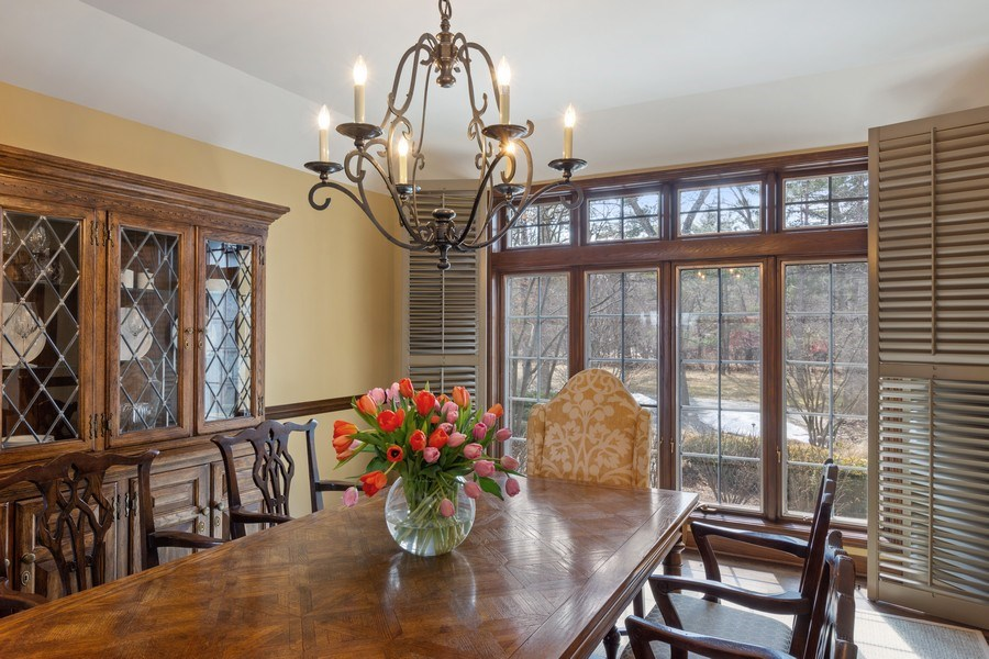 Real Estate Photography - 246 Oak Knoll Rd., Barrington HIlls, IL, 60010 - Dining Room